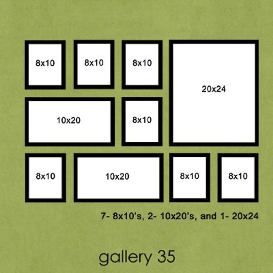 pictture frame wall 16 frames